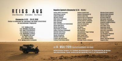 REISS AUS Spielorte Kinowoche 1 (14.03. - 20.03.)