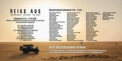 REISS AUS Spielorte Kinowoche 2 (21.03. - 27.03.)