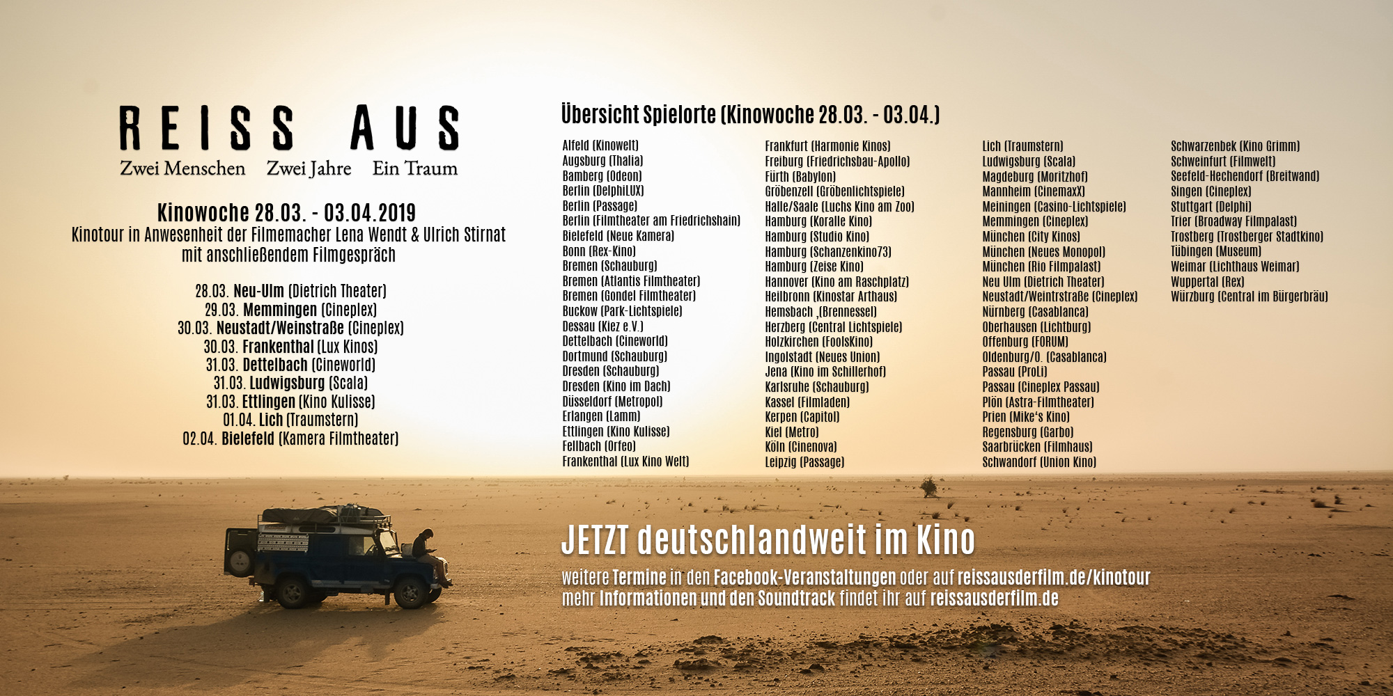 REISS AUS Spielorte Kinowoche 3 (28.03. - 03.04.)