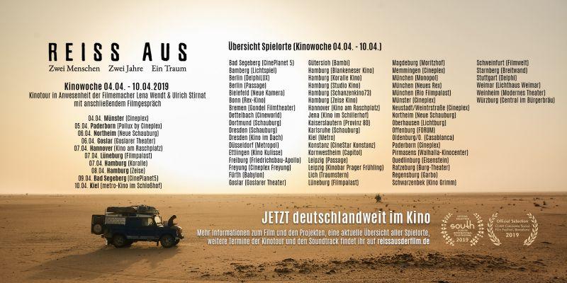 REISS AUS Spielorte Kinowoche 4 (04.04. - 10.04.)