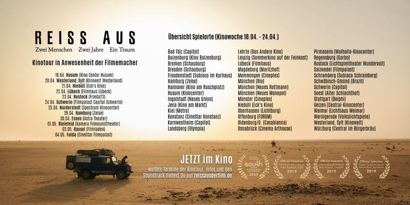 REISS AUS Spielorte Kinowoche 6 (18.04. - 24.04.)