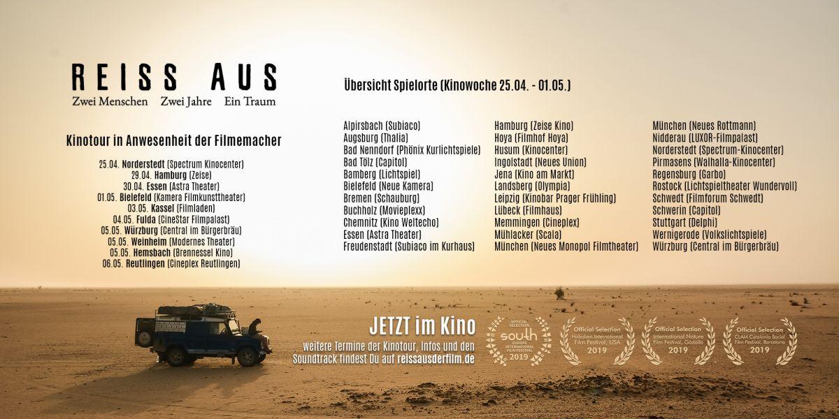 REISS AUS Spielorte und Termine Kinowoche 7 (25.04. - 01.05.)