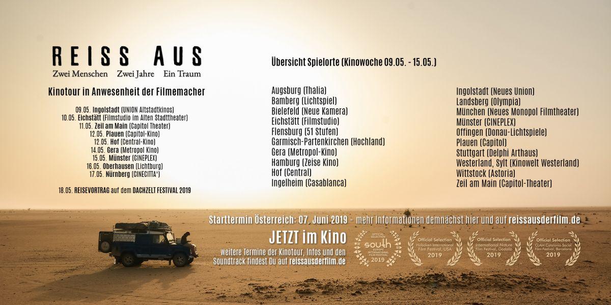 REISS AUS Spielorte und Termine Kinowoche 9 (09.05. - 15.05.)